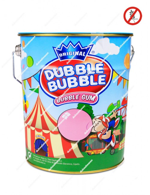 Dubble Bubble Gum bolones chicle cubo