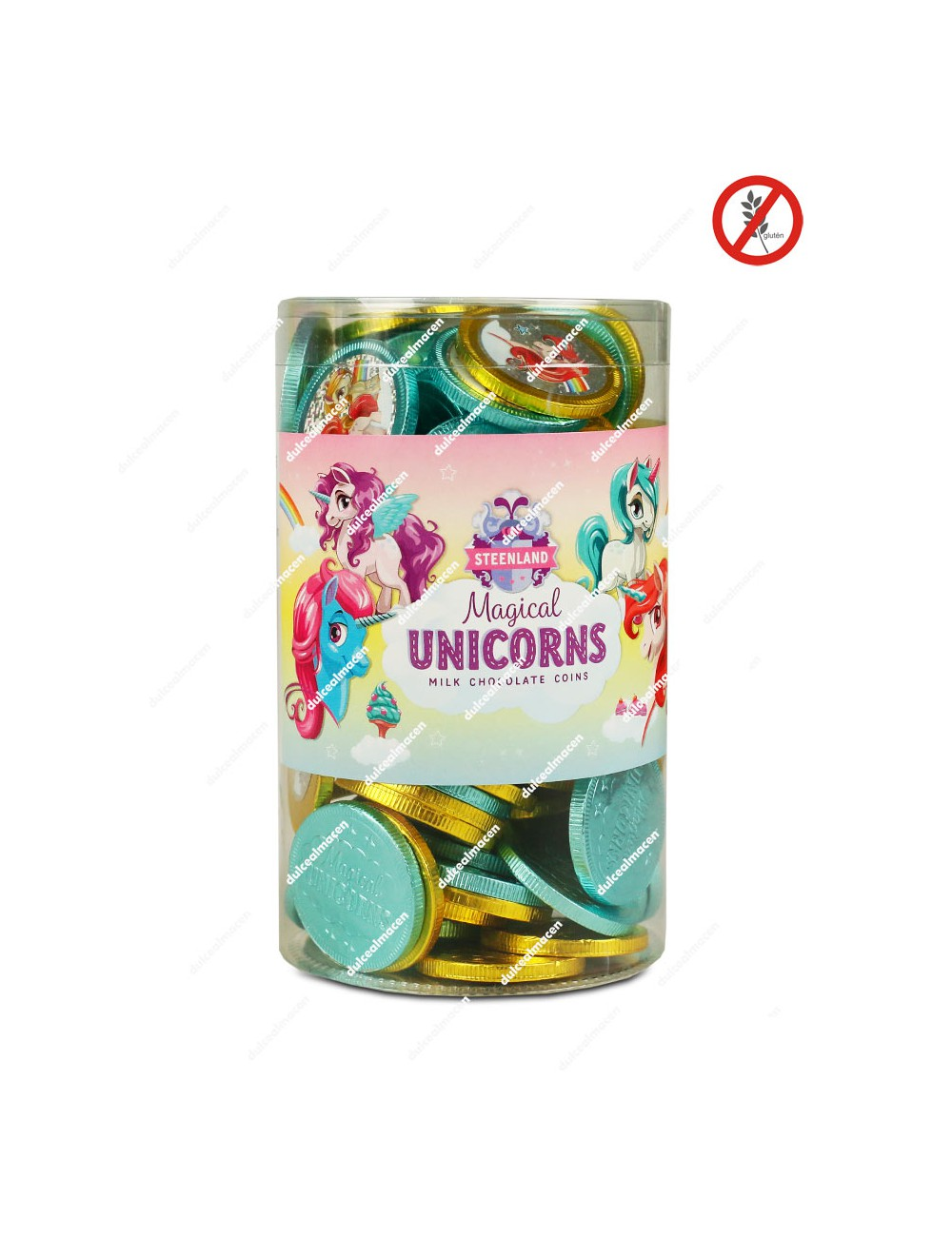 Monedas Chocolate Unicornios