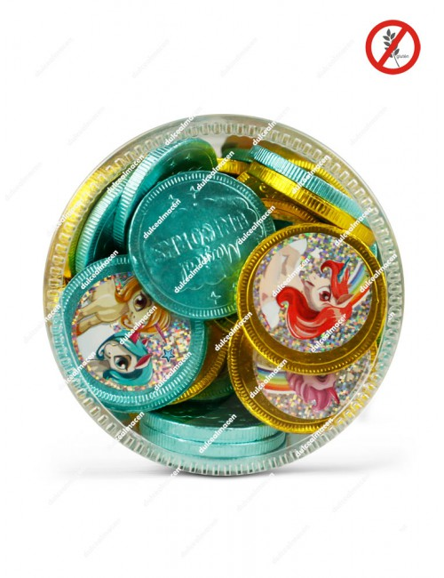 Monedas Chocolate Unicornios mas